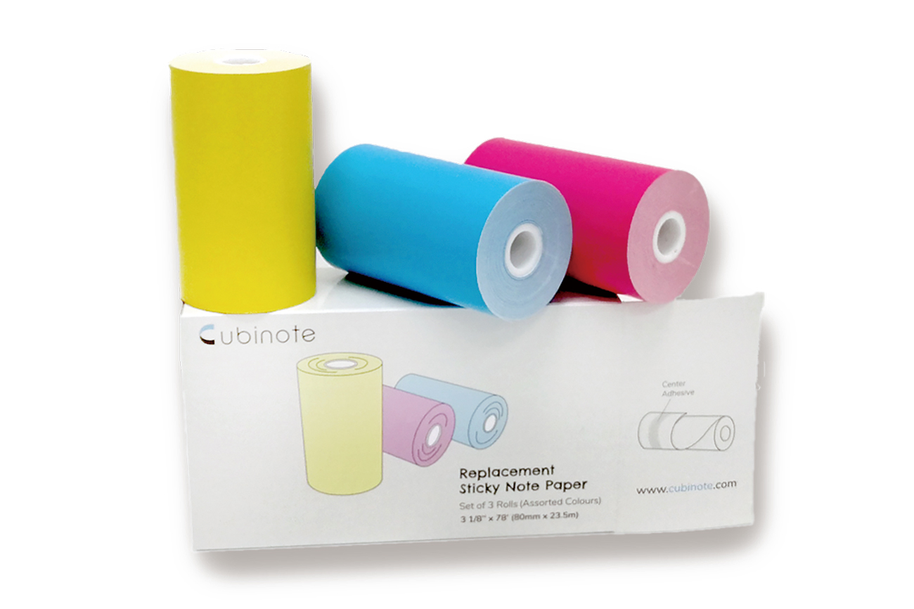 Cubinote Paper 3Pack Yellow Pink Blue