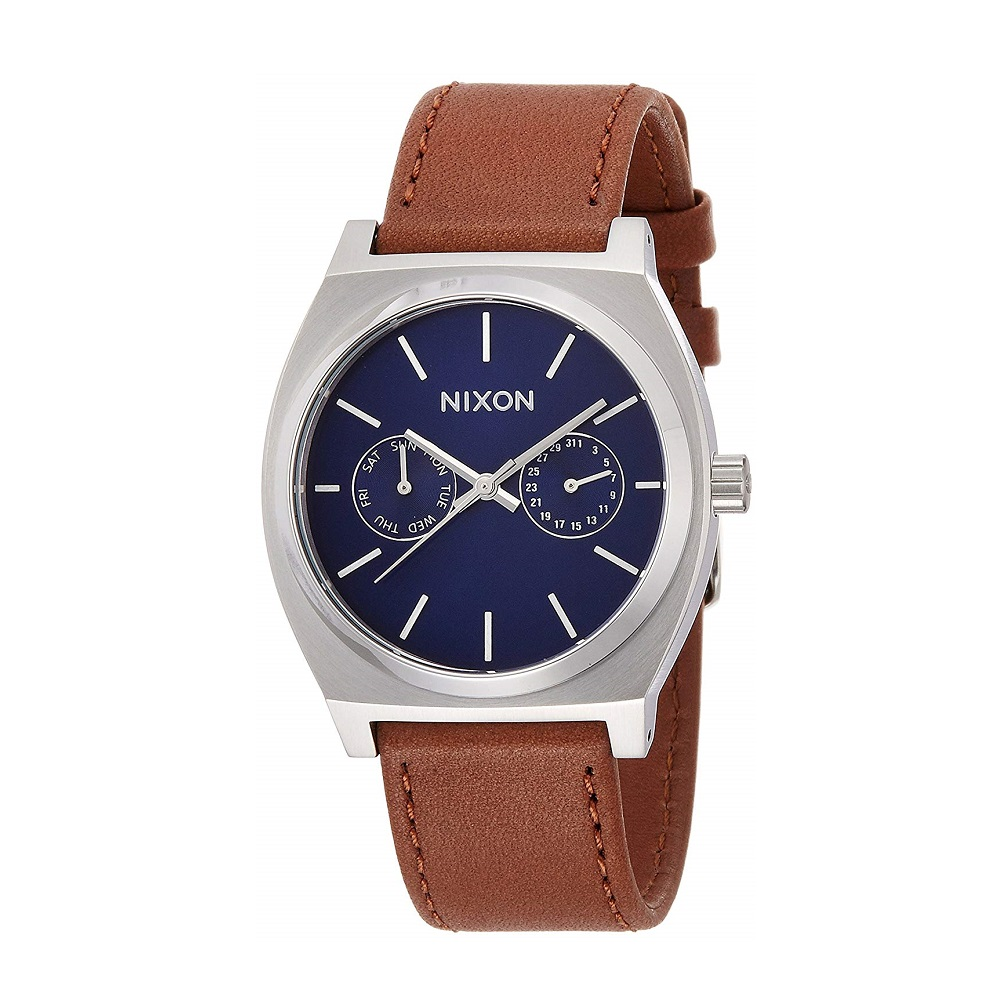 NIXON ニクソン TIME TELLER DELUXE LEATHER NAVY SUNRAY/BROWN NA9272307-00 【安心の3年保証】